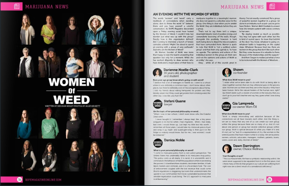 march women of weed